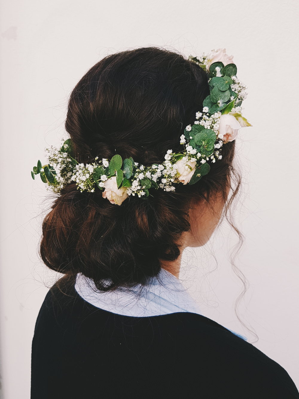 Hair and photos by Susanna Poméll Bridesmaid: Michelle Bride: Milena