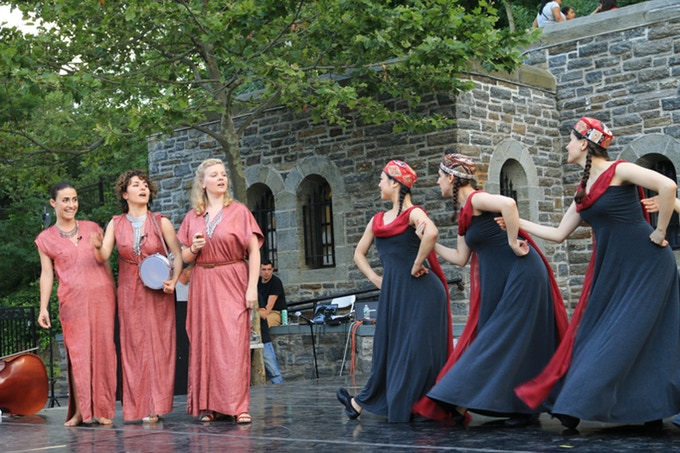 An Eastern West , from the 2016 Higher Ground Festival. Choreographer: Emily Vartanian. Music: The YY Sisters. Dancers: Mischief Dance Theater.