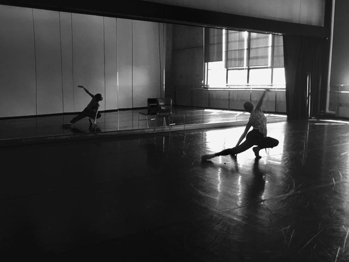 Full Space , from the 2017 Higher Ground Festival. Choreographer Julia Bengsston in rehearsal.