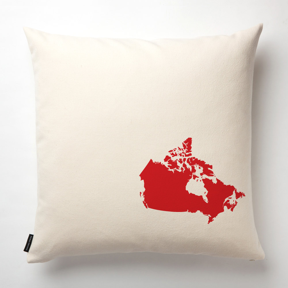 Fill In Map Of Canada.Large Canada Map Pillow