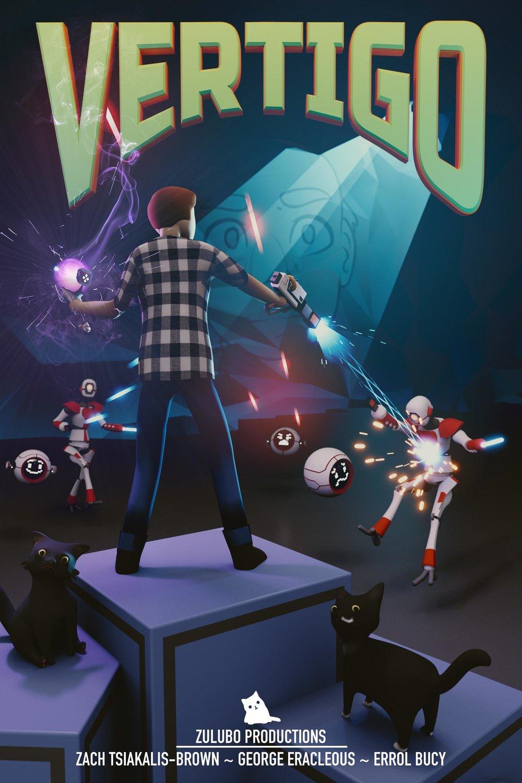 (2016)  A poster for my 2016 VR game,  Vertigo