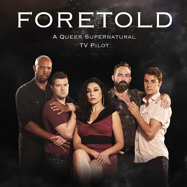 "TenCat is excited to release the first information about our new project, ""Foretold!"" Our Indiegogo campaign launched earlier this morning (link in bio) Please support this queer, supernatural Chicago show.  Photo by: @tylercore Makeup by: @khakipixley  #chicago #film #tv #actorslife #writerslife #producerslife #queer #lgbtq #gay #gayfilm #supernatural"