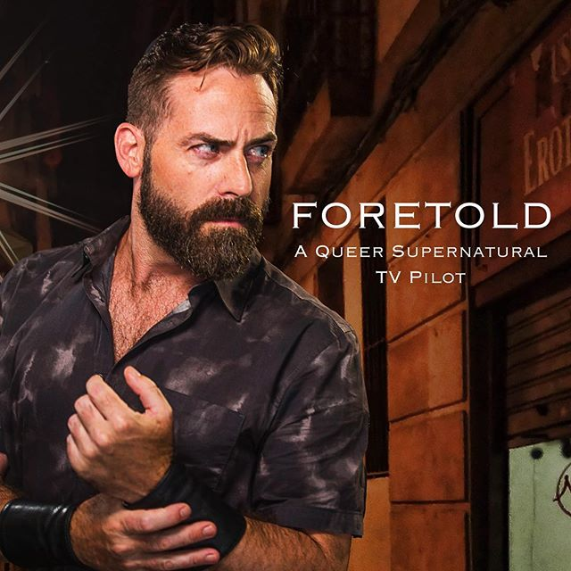 Our next character intro from Foretold - Trent (AK Miller) knows exactly what he wants. Give to our Indiegogo campaign (link in bio) and support queer filmmaking #Chicago #queer #lgbtq #gay #instagay #gayfilm #film #tv #scruff #gaybeards #gaynerd #nerdlife #talknerdytome #supernatural #superhero
