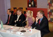 Judges (l-r) David Kotheimer, Ed Levine, Berly Ellis and Sam Schwartz.