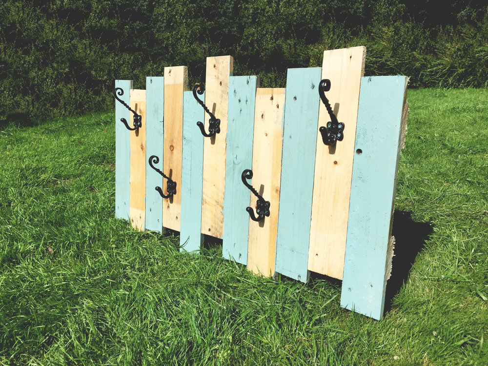 Large Coat Hooks (5) : 102cm wide59cm high(optional paint)  £60