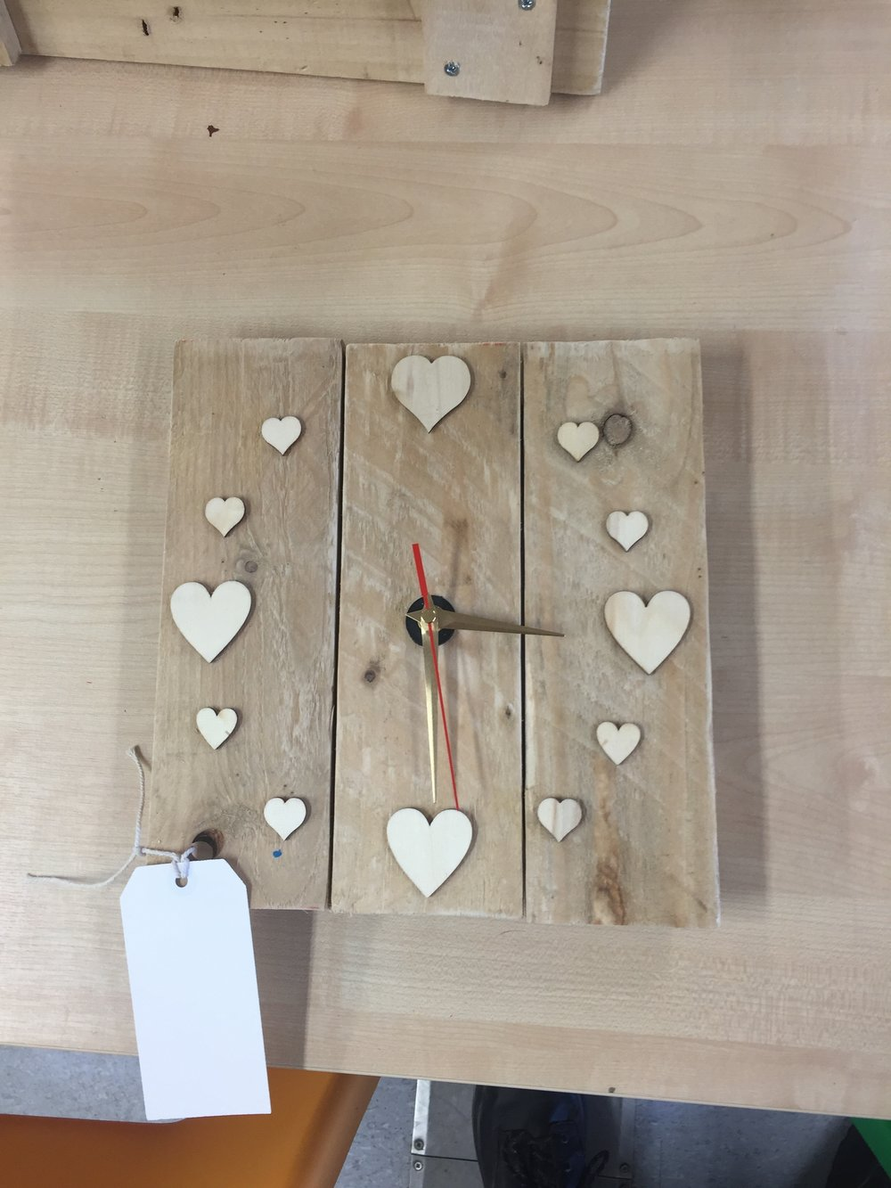 Heart Clock 28x28 cm£15