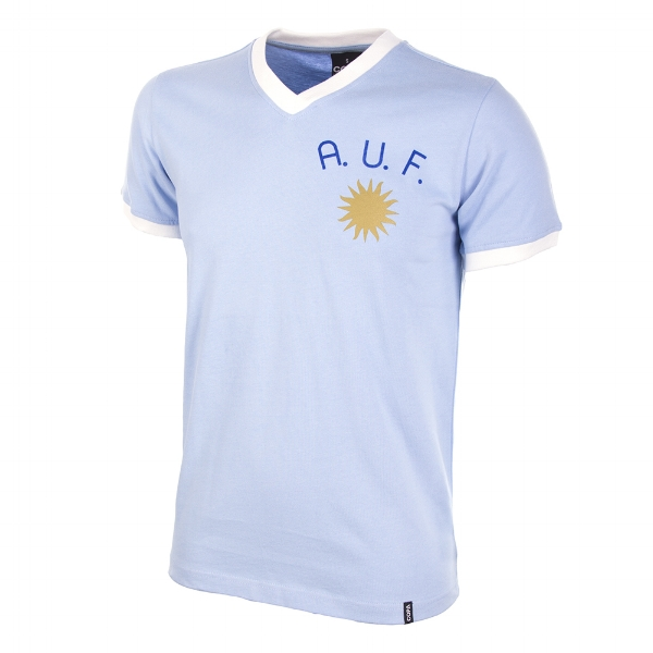 Uruguay 1970s Short-Sleeve Retro Football Shirt - Buy this shirt >>