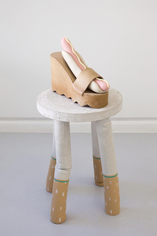 dog in heels