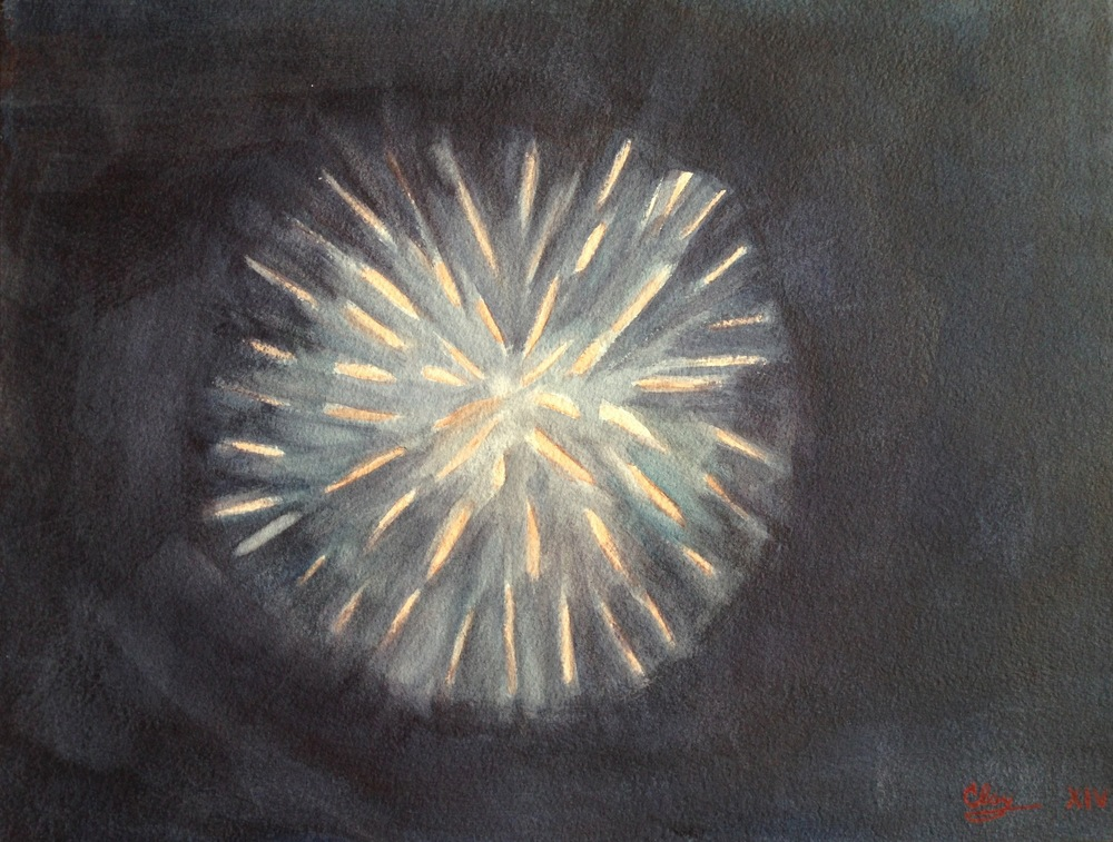 Fireworks At Night (Sold)