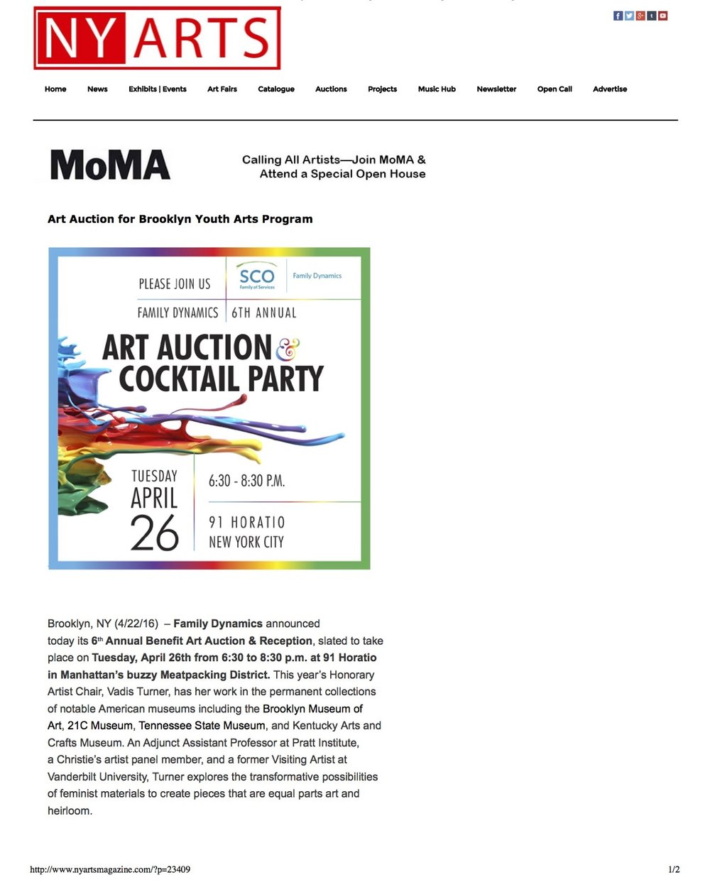 Art Auction for Brooklyn Youth Arts Program _ NY Arts MagazineNY Arts Magazine Page 1.jpg