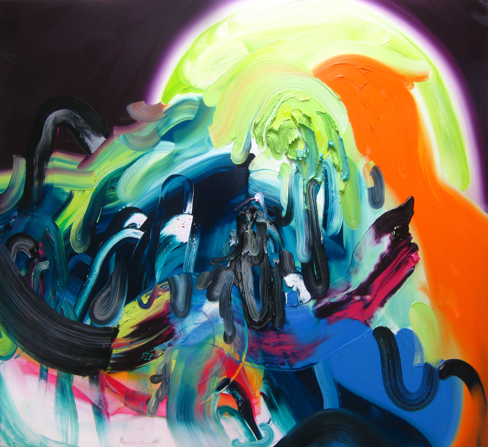 Spill Out / oil on canvas / 50 x 55 inches