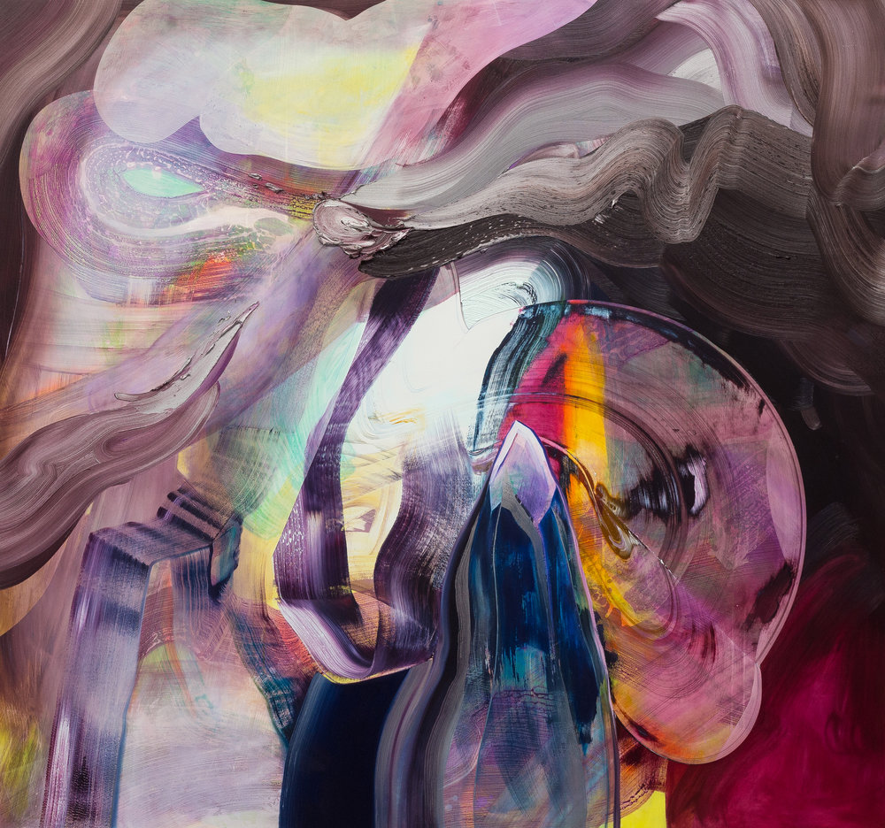 Cleansing Flame / oil and acrylic on panel / 70 x 75 inches