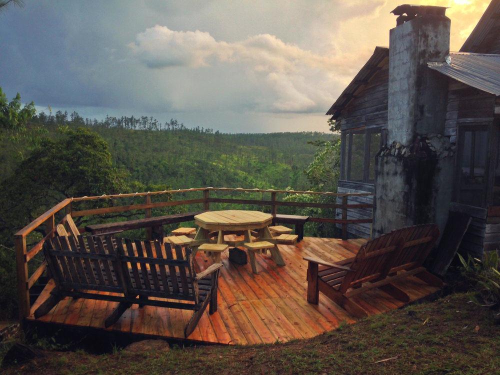 Outdoor veranda for morning coffee and night star gazing...