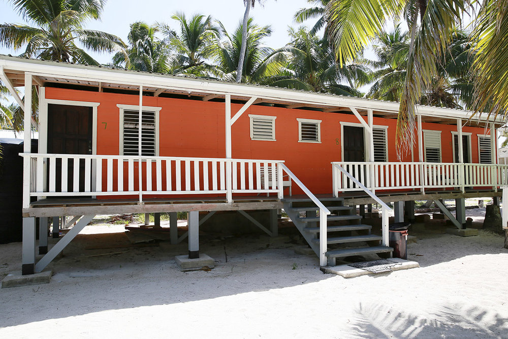 Bunkhouses on Tobacco Caye