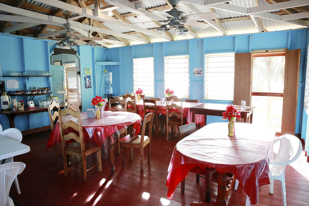 Dining Room at Tobacco Caye