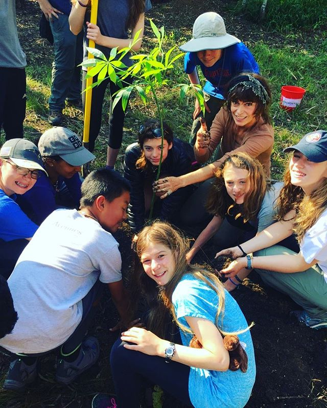 "Middle School students from Avenues: The World School, completed an 8-day National Parks education abroad field course today in Belize. In celebration of Earth Day, they planted a Ceiba Tree and sang ""Happy Earth Day"" to Monkey Bay.  Earth Day marks 27 years since Monkey Bay was founded in 1990 #earthday #belize #avenuesnyc #plantingtrees"