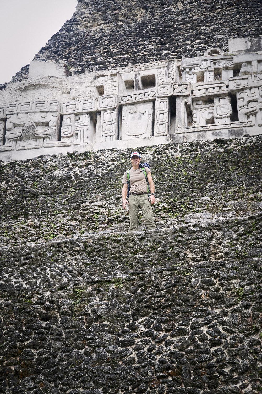 Exploring Xunantunich maya monument
