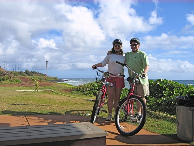 12. Go Biking in Kapa'a: Drive the 30 minutes to Kapa'a and rent bicycles (Coconut Coasters is on the left just as you enter town). There is a paved bike path from Kapa'a to Kealia and it is a fun 1/2 day event. Do it in the morning and stop into Kapa'a town for lunch. Nothing gets your appetite up like a good bike ride. 13. Go Shopping in Hanalei: Sure, it's no Rodeo Drive, but Hanalei shopping can be both fun and funky. Get beach gear, home decor, or even locally made ukuleles all in the small town of Hanalei. While you're there, grab some lunch at Hanalei Gourmet or one of the many other lunch spots.