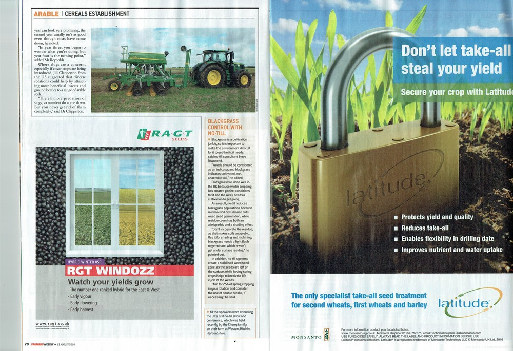 No-tillage gathers speed to improve soils and cut costs - p2