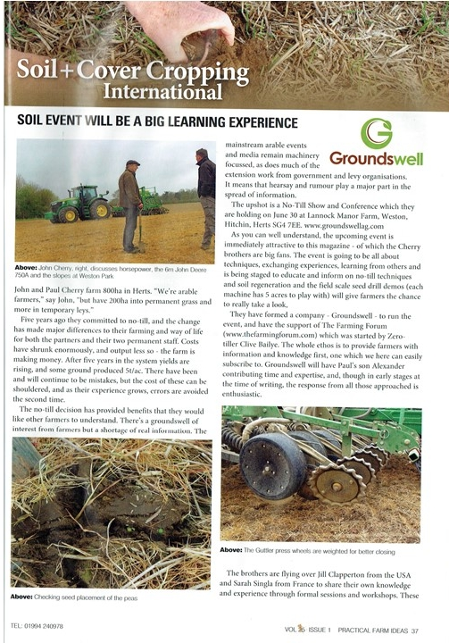Groundswell Soil Event Article