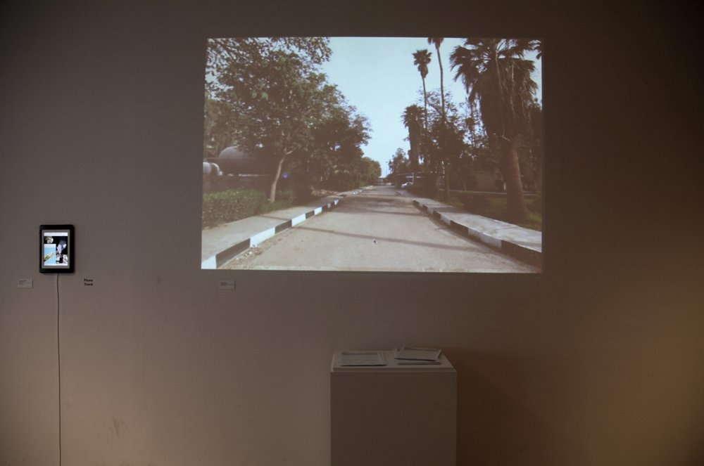 Exhibition view of Gelare Kohgozaran,  UNdocumentary  (2016) and Ayqa Khan, Fariha Róisín, and Nafisa Kaptownwala,  Untitled  (2016), photograph by Sadia Shirazi.