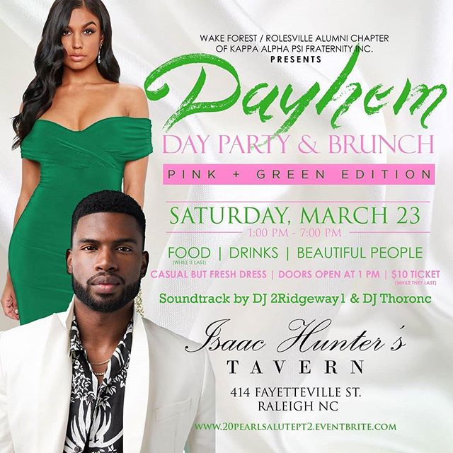 Did someone say Mimosas?? Come join us and The @northwakenupes for the Winter DAY PARTY and brunch on March 23rd from 1pm to 7pm! Get your tickets while they last: www.20pearlsalutept2.eventbrite.com