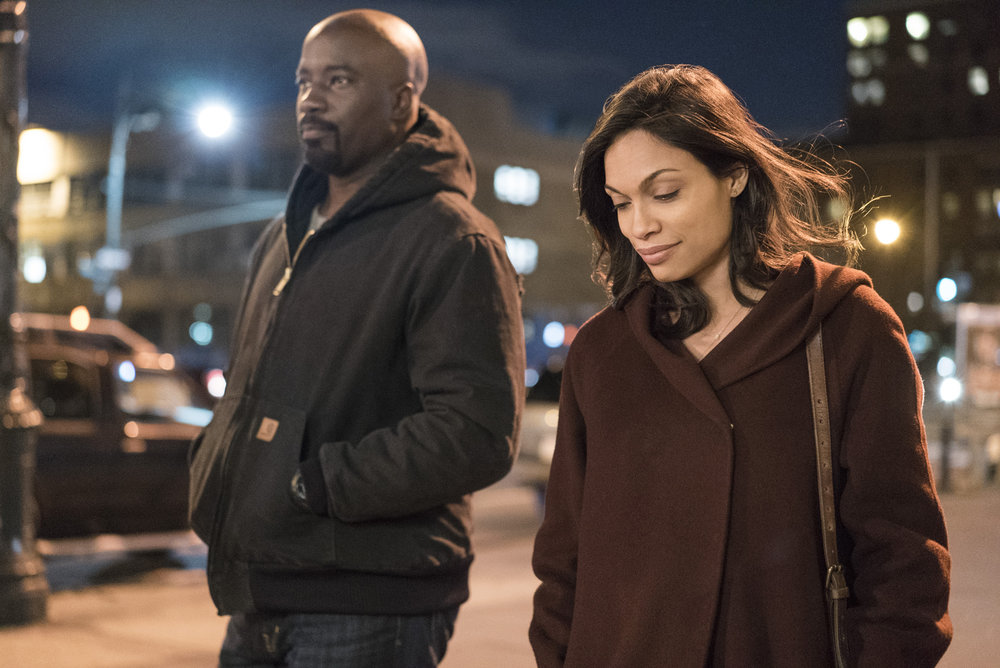 Mike Colter as Luke Cage and Rosario Dawson as Claire Temple (Image via Netflix)