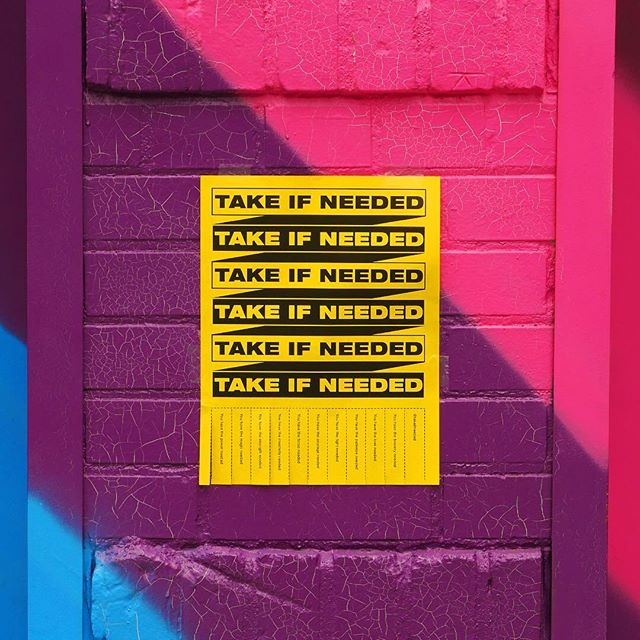 #takeifneeded . . . . . #graphicdesign #brooklyn #newyork #design #inspiration #power