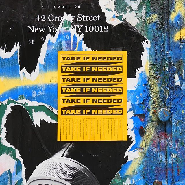 #takeifneeded . . . . . #sohonyc #soho #design #art #instagrid #graphicdesign #newyork #nyc #posterdesign #streetart #inspiration #power