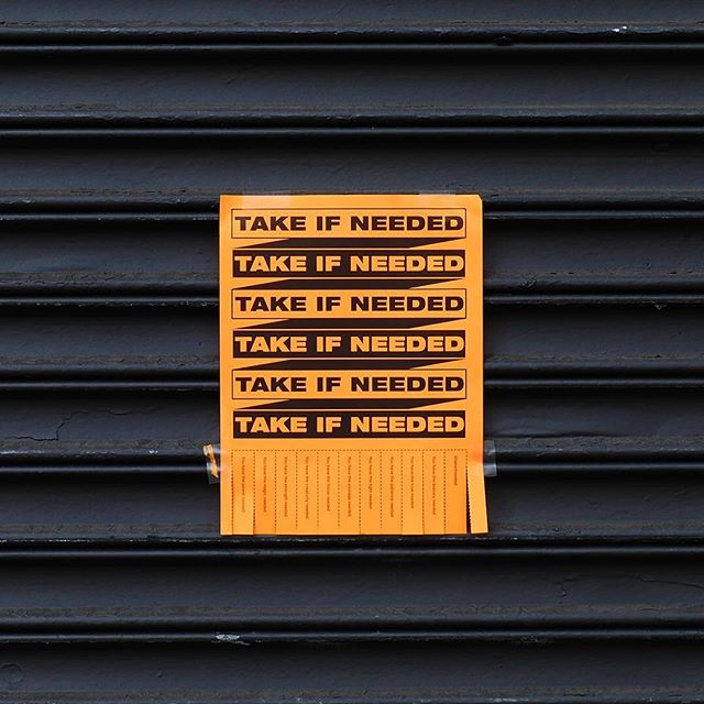 #takeifneeded . . . . . #graphicdesign #manhattan #design #newyork #nyc #streetart #posterdesign #inspiration #power