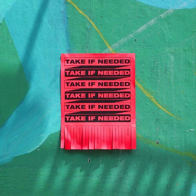 #takeifneeded . . . . . #manhattan #lowereastside #nyc #inspiration #graphicdesign #design