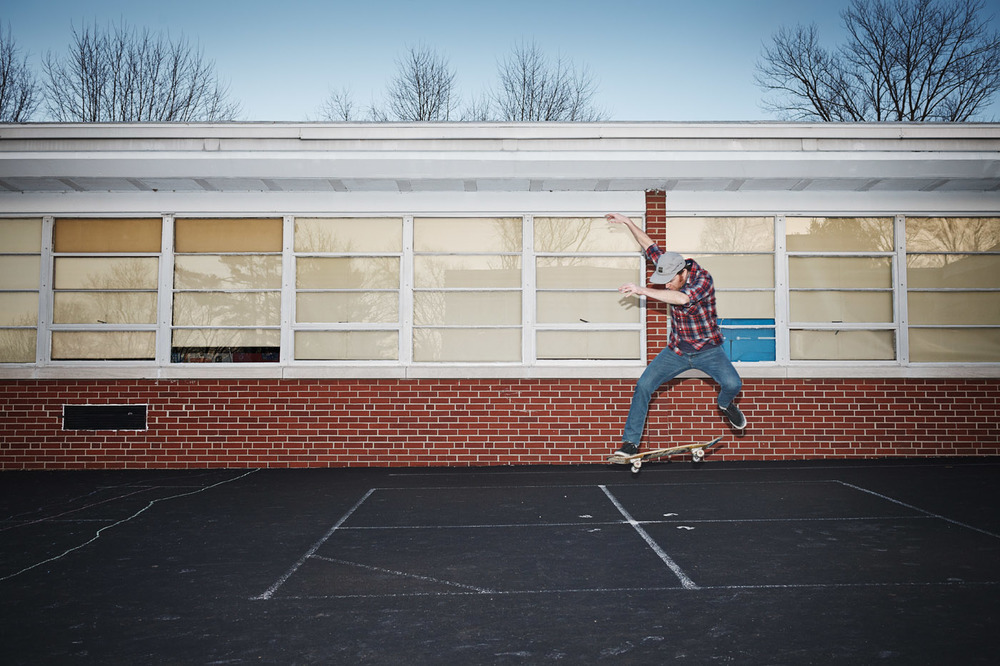 Skateboarding the ol' Schoolyard in 2014 -- photo by Teellzzz