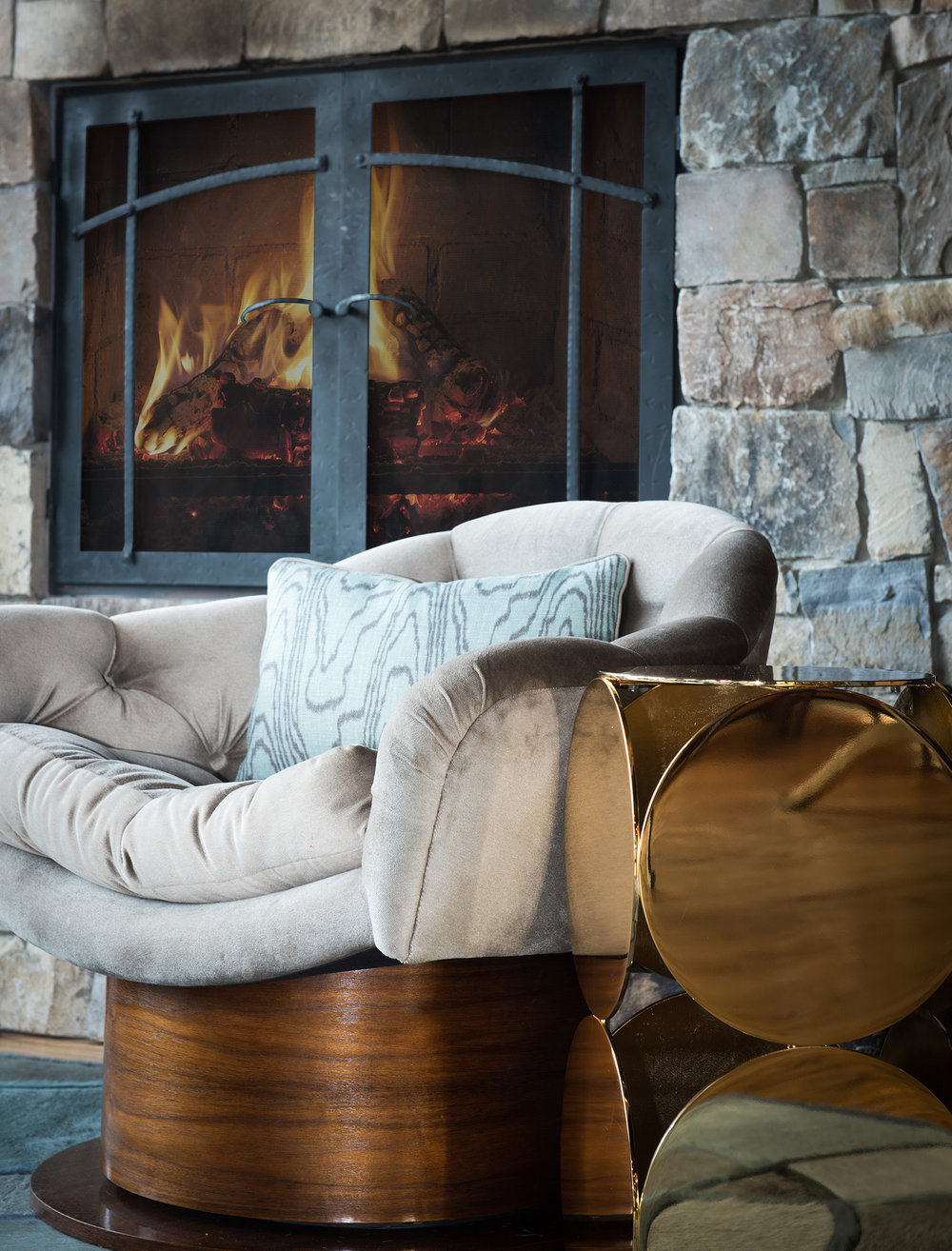 I can envision sitting by the fire drinking in this cozy lounger drinking a hot toddy!