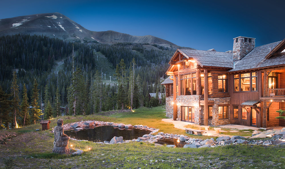 This stunning mountain home sits far back in Yellowstone Club overlooking Lone Peak, Pioneer Mountain, and Cedar Mountain.