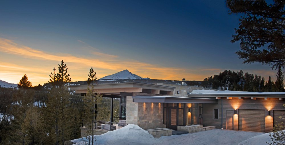 Loving the view this Reid Smith Architects home has of Lone Peak! Builder - Teton Heritage Builders