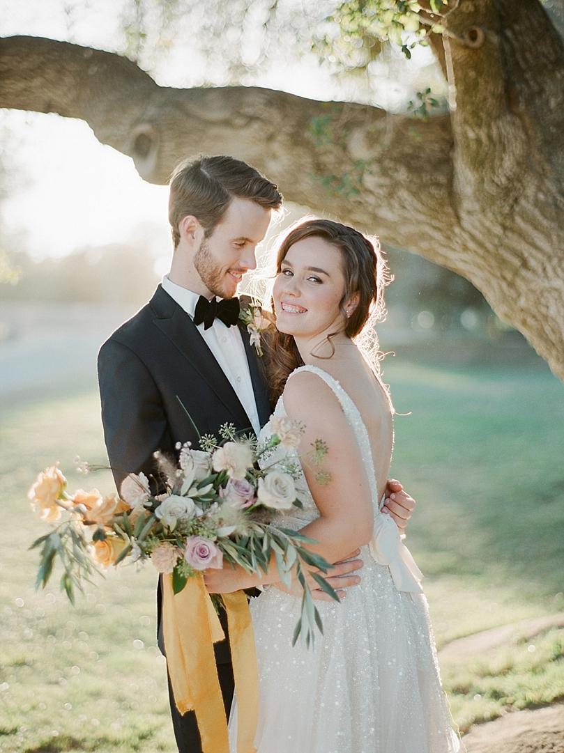 Lavender and peach bridal bouquet by San Diego floral designer Botanicamuse