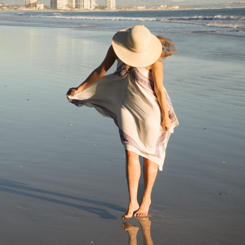Walking along Coronado beach