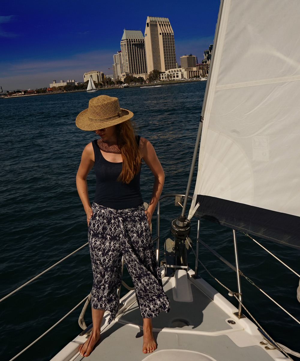 Living on a sail boat. Yacht, boating, San Diego