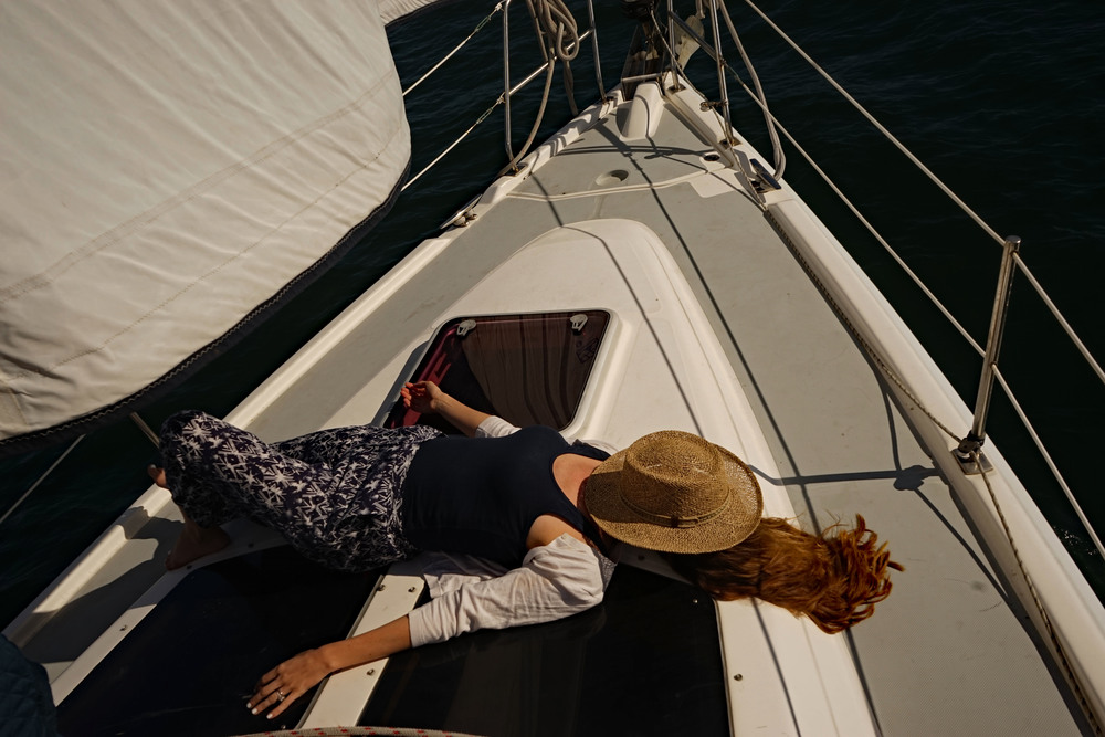 Living on a sail boat, San Diego, California, Fiddler's cove