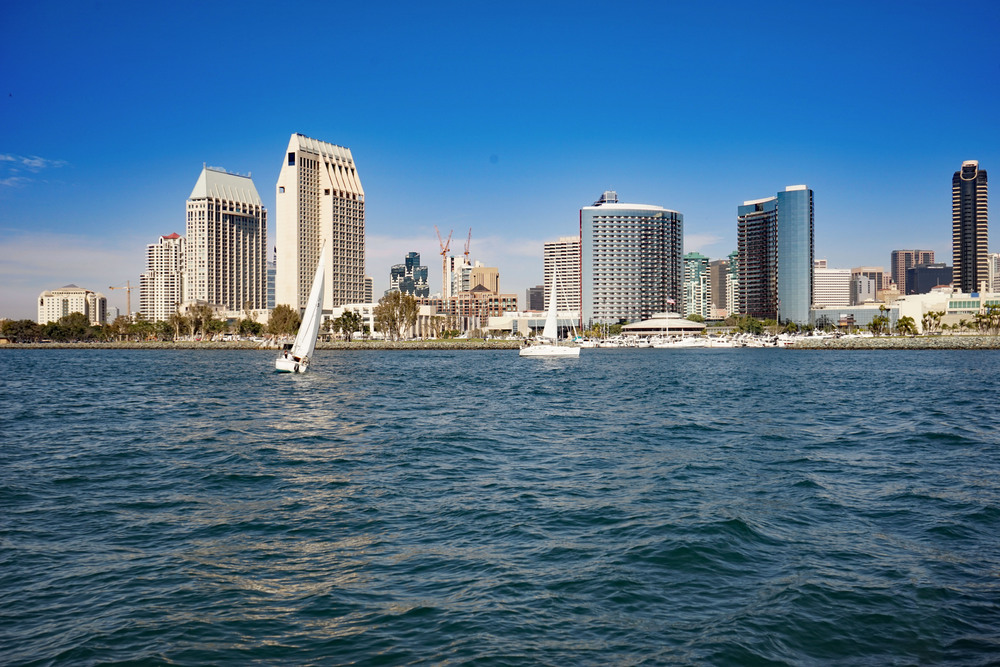 Sailing San Diego Bay, California