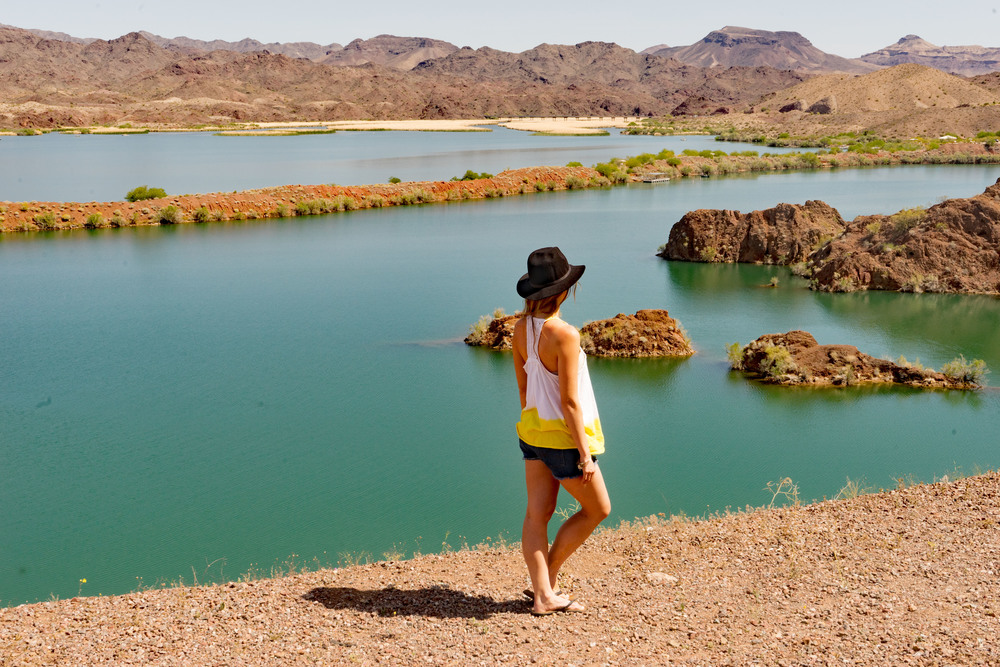 Sara Park, Lake Havasu, Arizona, Desert, Free People Top