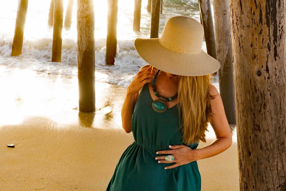 Straw sun hat Bohemian Style Beach