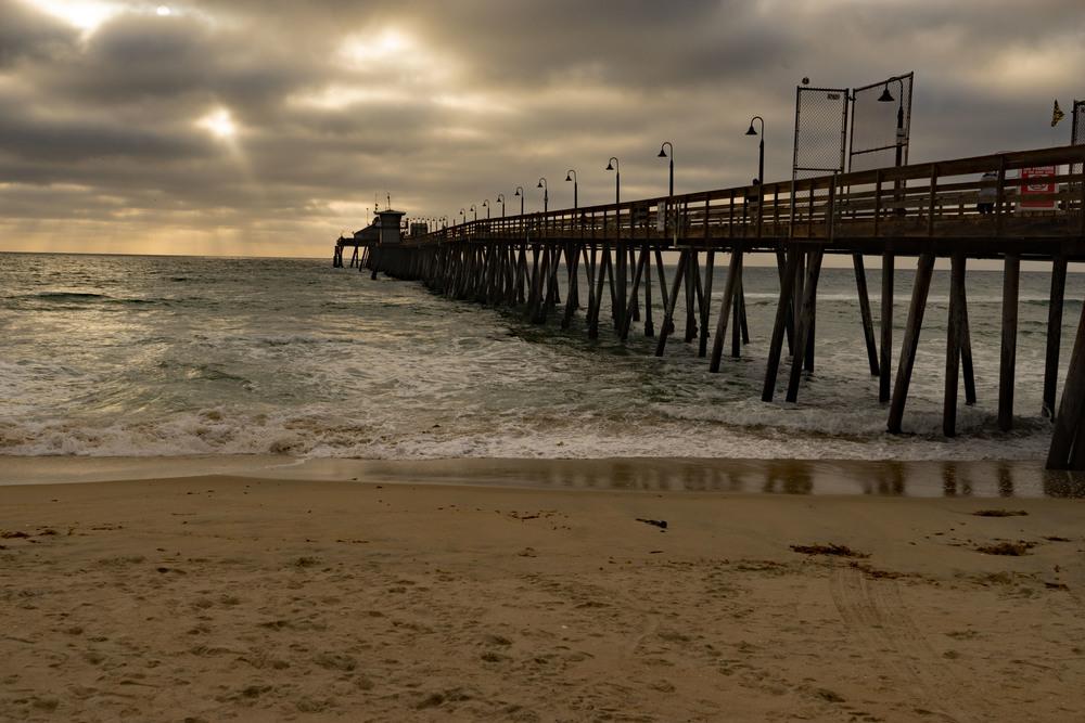 Imperial Beach Wharf Sunset Spring San Diego