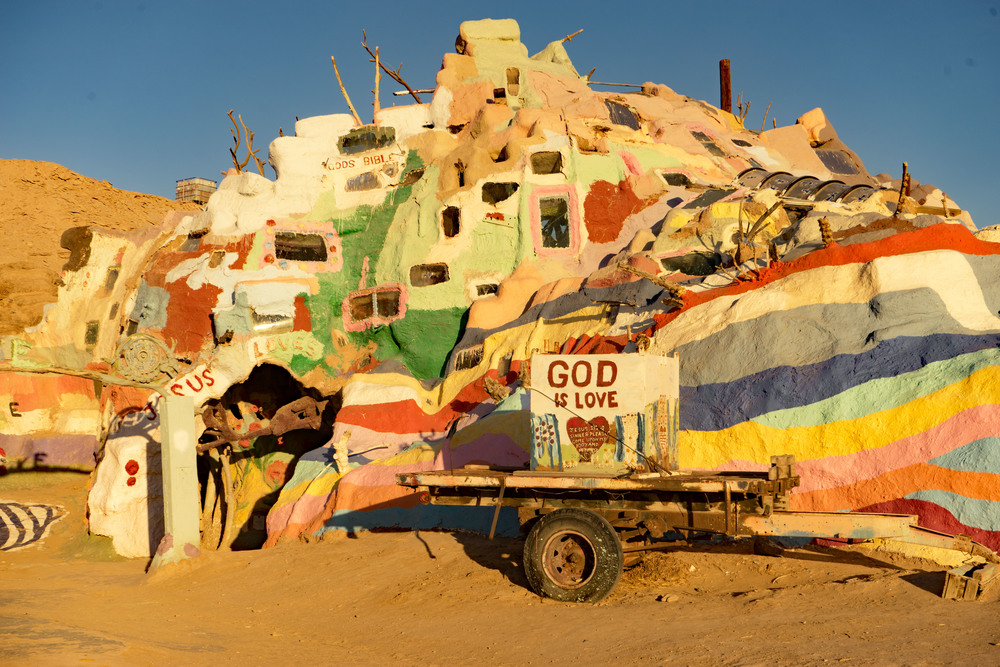 Salvation Mountain Desert Folk Art Sculpture