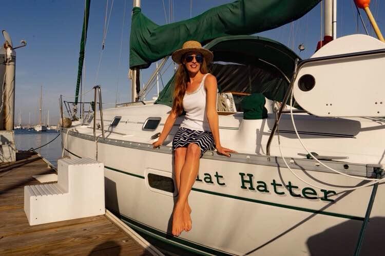 Sail boat, sailor, San Diego