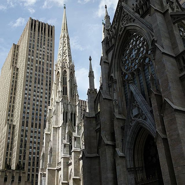 Saint Patrick's Cathedral on #goodfriday bathed in spring sunlight