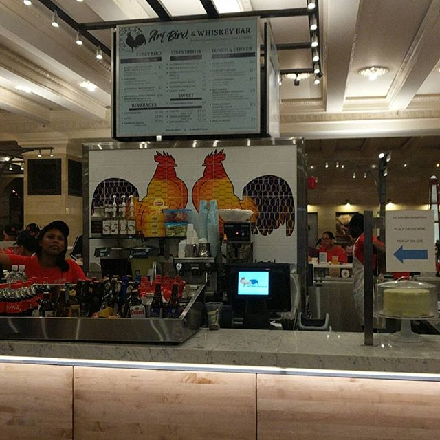 Suddenly there's Chicken & whiskey in the food court! #grandcentral