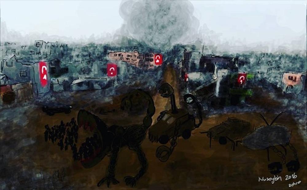 Zehra Doğan's work via ArtNet.