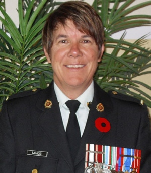 Alida Satalic was interrogated and had to undergo a medical examination to determine whether she met with the military's definition of being homosexual when she worked as a postal clerk at CFB Trenton. She accepted a release from military service designating her 'Not Advantageously Employable' in 1989, according to court documents. (LGBTPurge.com)