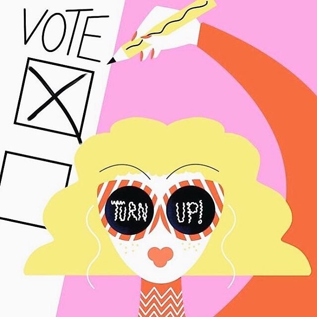 Voting is cool.  Art from @damngoodbrows . . . . . #onpoli #onelxn #ontario #ontarioelection2018 #election #elections #vote #votingmatters #votingiscool #yourvotecounts #democracy #democracyinaction #art #politicalart #feminist #feminism #feministart #toronto #ontariovotes